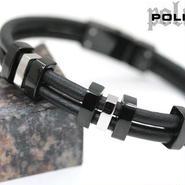 POLICE ポリス レザーブレスレット 19cm (R)