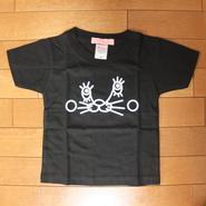 うさねこTシャツ(100:黒)