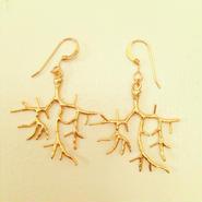 K14GF coral earrings...❤︎