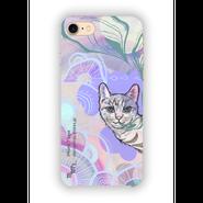 "iPhone7対応 ""moyamoya CAT - purple- ハードケース [hard case]"