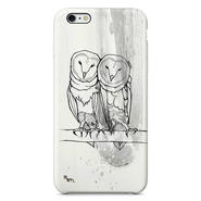 """Owl twins"" white フクロウ iPhone 6/6s/5/5s/6plus/6s plus Cover [ soft / hard ]"