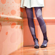 """""""LOOKING FOR"""" Tights Blue (dog)  60デニール"""