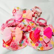 お花とうさぎの浴衣*Sサイズ(ホワイト、ピンク2種)