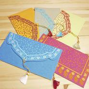 インド封筒・ご祝儀袋(5枚セット)-ANJALI