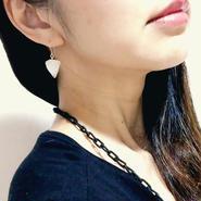 stone ピアス・イヤリング mini /  白