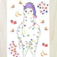 ポストカード〈バラ売り〉 おねむりアルパカ_PC-Y091