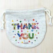 巾着(小) THANK YOU_KTS-Y184