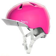 "【bern】KIDSヘルメット ""NINA"" Gloss Pink Visor"