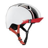 """【bern】KIDSヘルメット """"NINO"""" Gloss White Racing Stripe"""