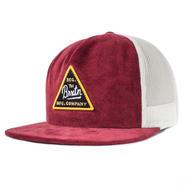 "【BRIXTON】CUE MESH CAP ""Burgundy/White"""