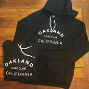 """【OAKLAND SURF CLUB】SURFRIDER HOODY """"BLACK"""""""