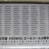 春日電子オリジナル・山口方面430MHzロールコール2周年記念QSLカード★限定品・貴重品★
