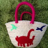 刺繍バスケット『恐竜』