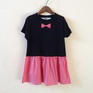 FAKE TIE DRESS / RED STRIPE
