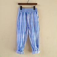 muu muu / STRIPE PANTS  blue