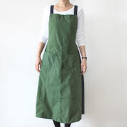 EURO KITCHEN APRON SKIRT_GREEN×NAVY