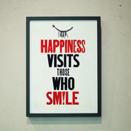 笑う門には福来たる(しめ縄活版ポスター)