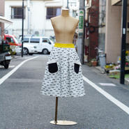 ☆お手伝いスカート (ボウタイ柄)