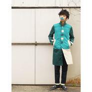 すぷりんぐふぁーすとステンカラーコート~青緑~