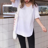 Side slit white tops☆