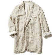 LINEN VISCOSE SMOKING JACKET【WOMENS】