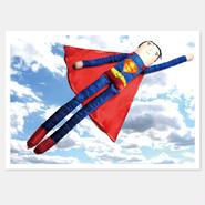 二つ折りカード Superman 封筒付き