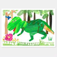 二つ折りカード やっと見つけた!ジャングルの宝物 封筒付き