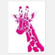 二つ折りカード Giraffe 封筒付き