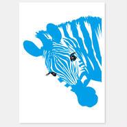 二つ折りカード Zebra 封筒付き