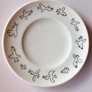 【ryunosuke illustrations】鳥の群れプレート