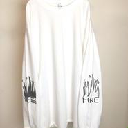 FIRE GRAFFITI L/S TEE (WHITE)