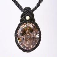 Hemp Flower Skull Necklace