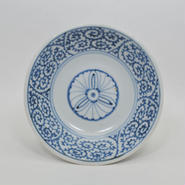 伊万里蛸唐草花文なます皿