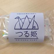 平和祈念折鶴再生紙粘土「つる姫」1個入り