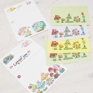 【PoPun.P】Letter set きのこたち S48-274
