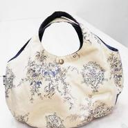 【ああ】丸型bag ベージュ天使柄 P17-1068