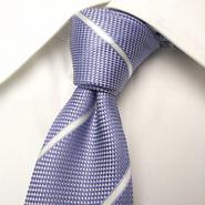 爽やかカラーで印象アップ|MARCCOSTAR|イングッド|光沢ブルー系ネクタイ|USED|0302