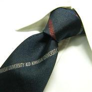 【USED】レア物 関西大学 旧タイプ ロゴ入りネクタイ【USED】