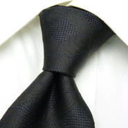 大人のブラックネクタイ|monsieur NICOLE(ムッシュニコル)|織柄の綺麗なブラック系ネクタイ|日本製|USED|0615