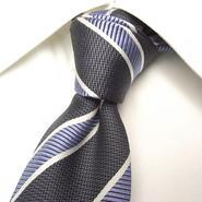 基本のストライプ|SENSATION CLUB|株式会社 松本|グレー&ブルー系ネクタイ|USED|