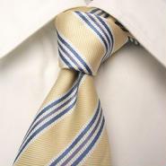 グレー系スーツに◎|CLASSOCO A|ベイクラシコ扱い|イエローゴールド&ブルー系ネクタイ|USED|0302