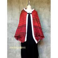 アジアンカラー・ポンチョ風ジャケット赤ライン