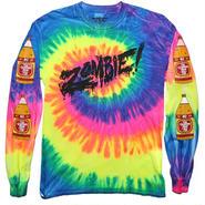 Zombie Trippy Tye Dye ロングT-shirts