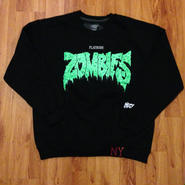 Zombie Black/Green Crew SWEATSHIRTS