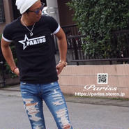 【新作】スターロゴTシャツ【ブラック・ホワイト】