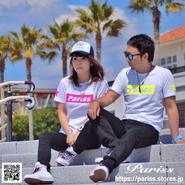 【人気】BoxロゴTシャツ【ホワイト×蛍光イエロー・蛍光ピンク】