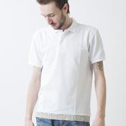 [SALE][30%OFF] PROJECT SR'ES(プロジェクトエスアールエス) / UNDER STTINGS POLO -LEOPARD-(裾(レオパード柄)切り替えポロシャツ)