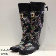 日本野鳥の会 / バードウォッチング長靴(レインブーツ) / CAMO(カモ柄) / 折りたたみ可能 / アウトドア / 野外フェス
