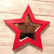 星型ミラー  スタンド  レッド