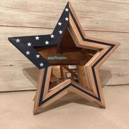 星型ミラー  スタンド ネイビー 星条旗